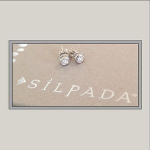 Silpada .925 CZ Stud Earrings - Retired - Rare